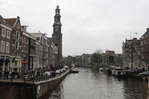 View of Westerkerk and canal